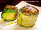 Recipe appetizers - chicken-zucchini roll-ups