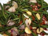 Recipe Roasted green beans and bacon