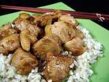 Recipe Bourbon chicken - amish caramel corn - individual apple charlottes