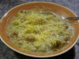 Recipe Potato, broccoli, ham soup - apple cranberry crisp