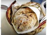 Recipe Dried cranberry & walnut bread from ottolenghi for bbd, with roasted bell pepper pasta