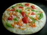 Recipe Vegetable uthappam/savoury pancakes topped with vegetables