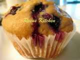 Recipe Eggless blueberry muffins [egg substitute: buttermilk ]