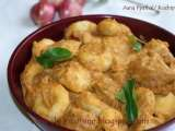 Recipe Aana pathal/ kozhi pidi (steamed rice dumplings in rich coconut and beef gravy)