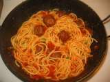 Recipe Spaghetti with chicken balls