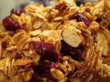Recipe Cranberry almond granola