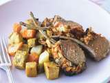 Feta and semi dried tomato crusted lamb