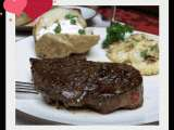 Recipe Valentine dinner for two: filet mignon with cognac sauce/ raspberry truffle cake