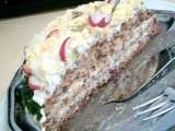 Recipe 3-layer sandwich cake filled with matjes herring salad