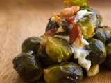 Recipe Brussels sprouts with mayonnaise and bacon