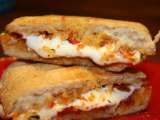 Recipe Sun-dried tomato pesto and mozzarella paninis