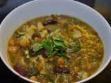 Recipe Persian bean and noodle soup - ash-e reshteh