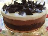 Recipe Triple chocolate mousse cake