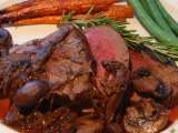 Recipe Beef filet with red wine mushroom sauce