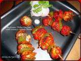 Recipe Mushroom tikka stuffed with creamy cottage cheese
