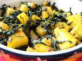 Recipe Aloo methi ki sabzi (fenugreek potato vegetable)