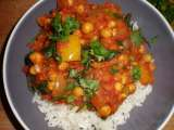 Recipe Chickpea and spinach curry