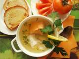 Red&white ukha (russian fish soup)