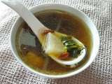 Recipe Watercress and daikon soup of the day