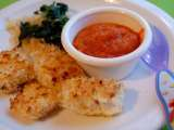 Recipe Panko crusted fish nuggets with carrot ketchup
