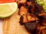 Recipe Beer and lime braised carnitas and spiked guacamole