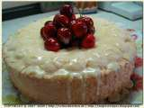 Recipe Angel food cake with lemon icing