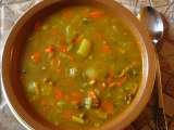 Recipe Hot curry-ginger lentil and vegetable soup.