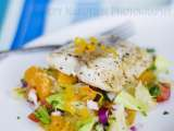 Recipe Seared mahi-mahi with spicy pomelo and orange salsa