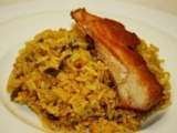 Recipe South african yellow rice with baked chicken breast