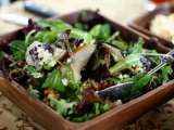 Recipe Spring greens with pears, sugared walnuts & gorgonzola