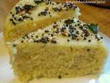 Recipe everyday cooking - mix daal dhokla/ idli (steamed rice and lentil cakes)