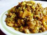 Recipe Dried or canned lentils. easy lentil recipe and eat a variety for the variety
