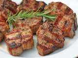 Recipe Rosemary lamb chops with grill roasted potatoes