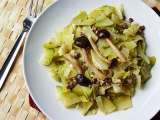 Recipe Chayote (chokos), cabbage with willow mushrooms