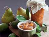 Recipe Feijoa, pear and white wine jam