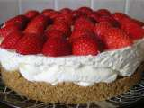 Recipe No-bake vanilla and strawberry cheesecake
