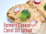 Recipe Farmer's cheese carrot dill spread