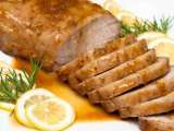 Recipe Roasted pork loin with orange-maple-rosemary glaze