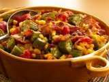 Recipe Creole okra, corn & tomatoes