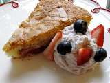Recipe Strawberry buttermilk cake with lemon-blueberry whipped cream