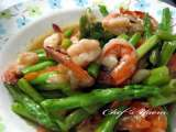 Recipe Stir fried prawns with asparagus