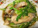 Recipe Stir fried fish with chinese celery (pla pad kuen-shai)