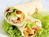 Recipe Chicken and veggie tortilla wrap