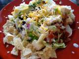 Recipe Southwestern cobb salad with avocado ranch dressing