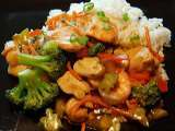 Recipe Chicken & shrimp vegetable stir-fry