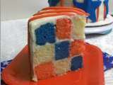 Recipe Red, white, and blue checkered cake!