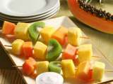 Recipe Skewered fresh fruit with celery seed dressing