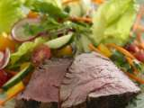 Recipe Grilled spicy filet mignon salad with ginger-lime dressing