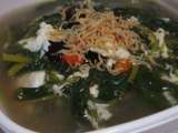 Recipe Spinach soup with century egg