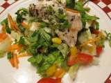 Recipe Tilapia with lettuce salad